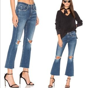 Rag & Bone Cropped Flare High Rise Jeans Size 24